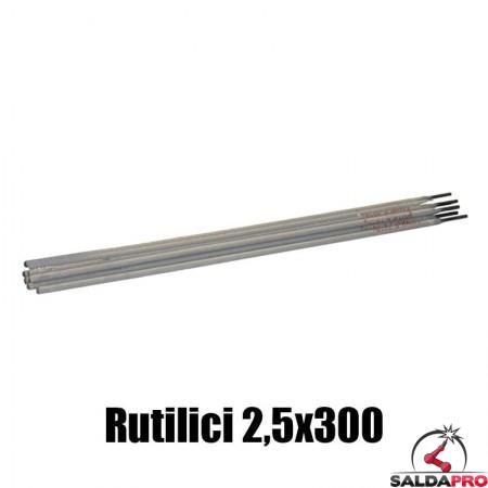 elettrodi rutilici 2,5x300mm saldatura 250 pezzi rivestimento rutile
