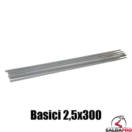 elettrodi basici 2,5x300mm saldatura 250 pezzi rivestimento basico