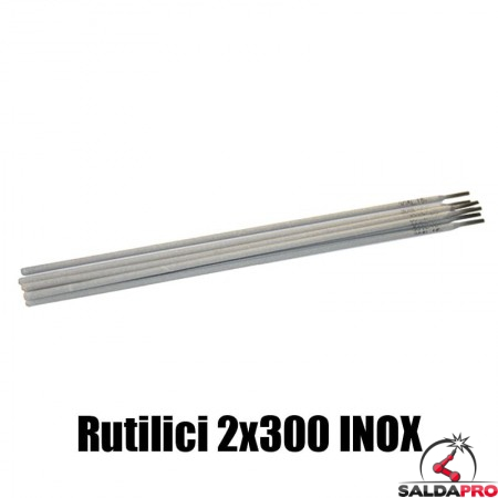 elettrodi rutilici 2x300mm saldatura inox 230 pezzi rivestimento rutile basso contenuto carbonio