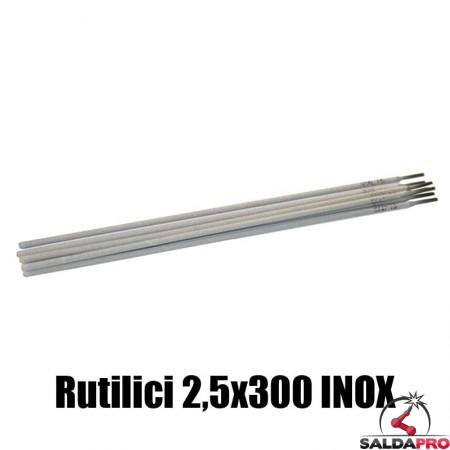 elettrodi rutilici 2,5x300mm saldatura inox 130 pezzi rivestimento rutile basso contenuto carbonio