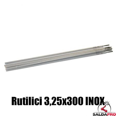 elettrodi rutilici 3,25x350mm saldatura inox 77 pezzi rivestimento rutile basso contenuto carbonio