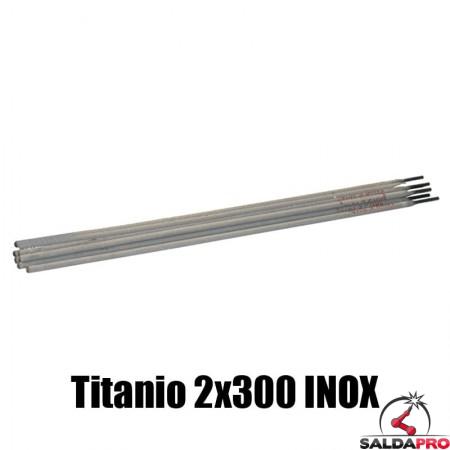 elettrodi titanio 2x300mm saldatura inox 230 pezzi rivestimento basso contenuto carbonio