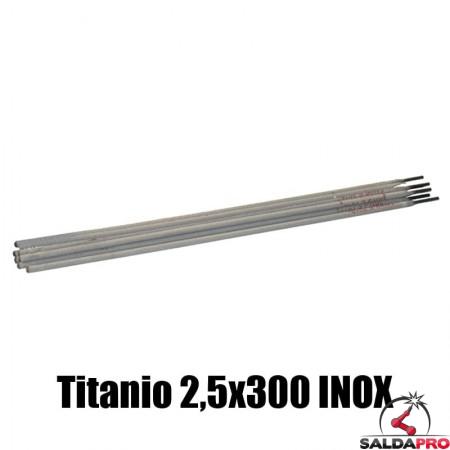 elettrodi titanio 2,5x300mm saldatura inox 130 pezzi rivestimento basso contenuto carbonio