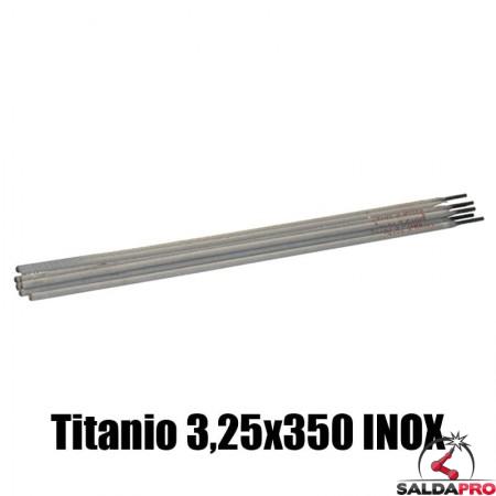 elettrodi titanio 3,25x350mm saldatura inox 77 pezzi rivestimento basso contenuto carbonio