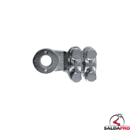 capicorda a 4 viti 50-100mmq anello diametro 9,5-13mm in ottone nichelato