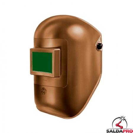 maschera protettiva saldatura casco materiale termoplastico finestra 75x98 vetro inattinico verde