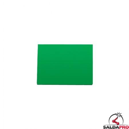 vetro inattinico 75x98 verde grado di protezione din 10-13 maschera saldatura