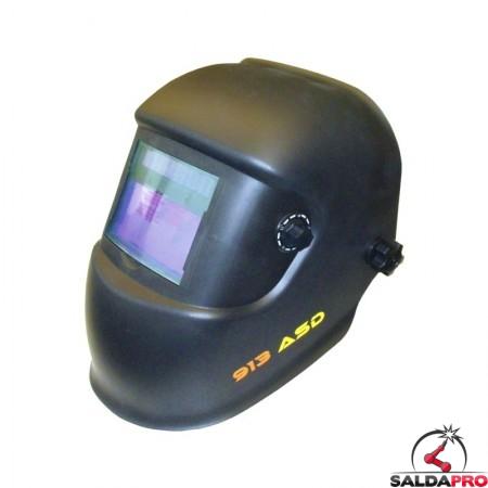 maschera saldatura protezione variabile automatica din9-13 filtro 100x50 nera