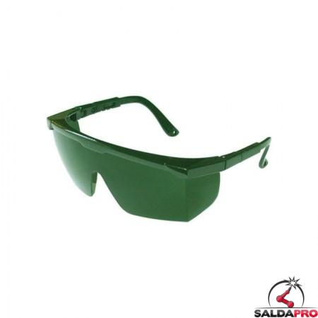 occhiale monolente protezione din 5 saldatura