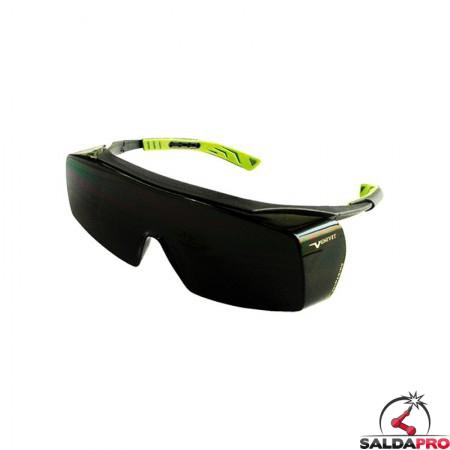 occhiale monolente antigraffio protezione din 5 saldatura