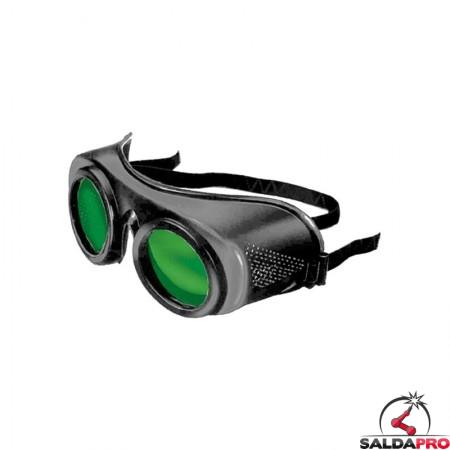 occhiale protettivi lenti 50mm protezione din 5 saldatura