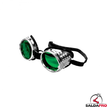 occhiale protettivi alluminio lenti 50mm protezione din 5 saldatura