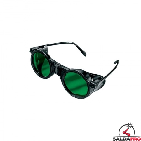 occhiale protettivi plastica lenti 50mm protezione din 5 saldatura protezioni laterali