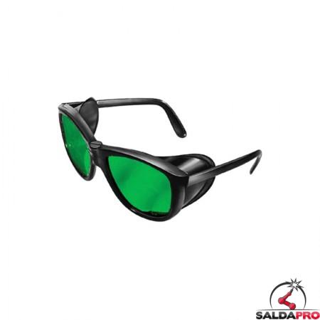 occhiale protettivi plastica lenti sagomate din 5 saldatura protezioni laterali