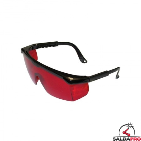 occhiale monolente rossi per laser