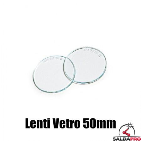 lenti 50mm vetro incolore ricambio occhiali protettivi saldatura