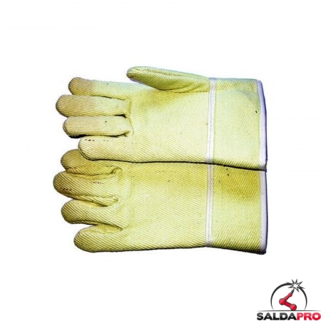 guanti protettivi anticalore fibra aramidica foderata manichetta media 28cm