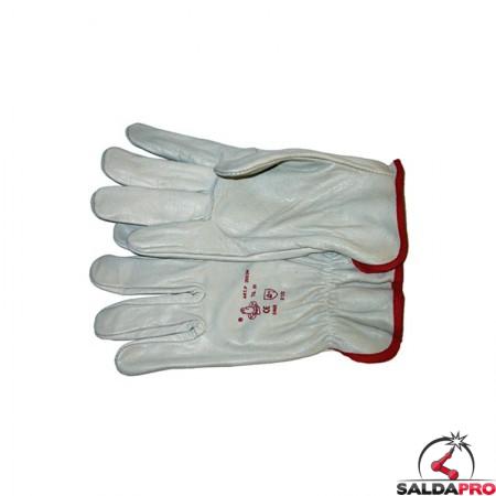 guanti protettivi in pelle fiore tipo fino lunghezza totale 24cm