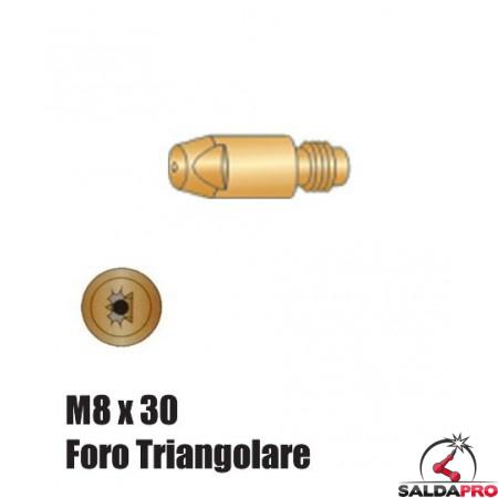 Punte serie M8x30 Foro Triangolare per torce serie BZ - Ø 1,0 - 1,6 (10pz)