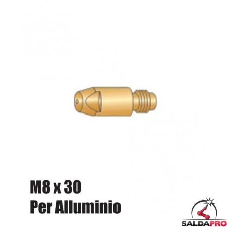 Punte serie M8x30 per alluminio per torce BZ - Ø 0,8 - 2,4 (10pz)