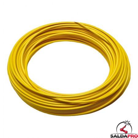 guaina metallica ricoperta gialla 2,3x3,9-4,8 lam 0,8 ricambio torce saldatura mig