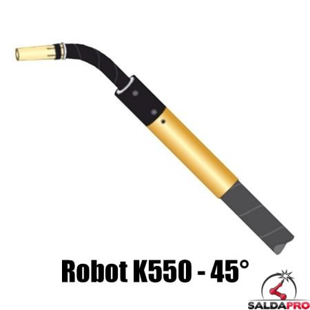 torcia completa automatica robot k550 collo 45° raffreddamento acqua saldatura mig