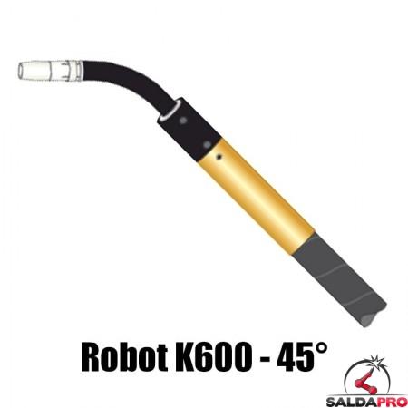 torcia completa automatica robot k600 collo 45° raffreddamente acqua saldatura mig