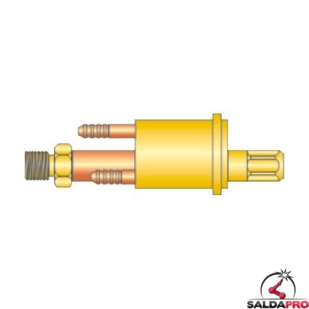 adattatore centralizzato tig l-tec h2o acqua 12x1 ricambio torce saldatura tig