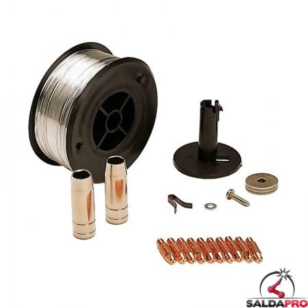 kit saldatura acciaio inox 0,8mm per saldatrici telwin 802037