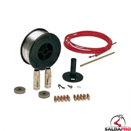 kit saldatura alluminio 0,8-1,0mm per saldatrici telmig technomig telwin 802115