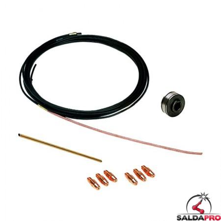 kit saldatura alluminio 0,8-1,0mm per saldatrici electromig technomig telwin 802817