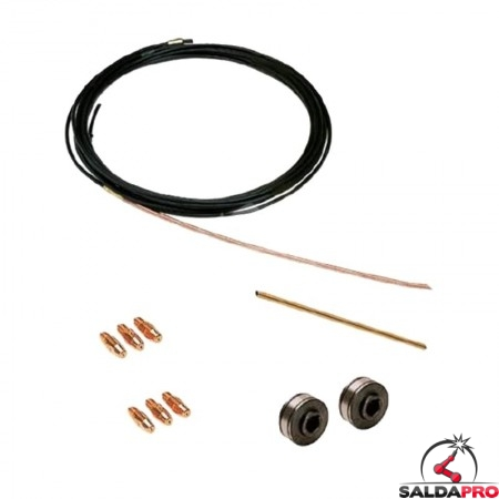 kit saldatura alluminio 0,8-1,0mm per saldatrici electromig technomig treo wave telwin 802836