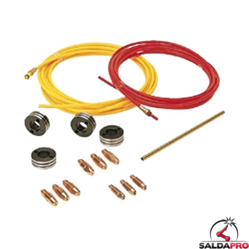 kit saldatura alluminio 1,0-1,6mm per saldatrici mastermig supermig superior electromig telwin 802273