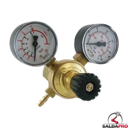 riduttore pressione 2 manometri argon co2 300/315 atm 32 l/min telwin 722119