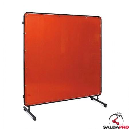 schermo protettivo mobile 174x174 cm tenda rosso protezione saldatura telwin 803508