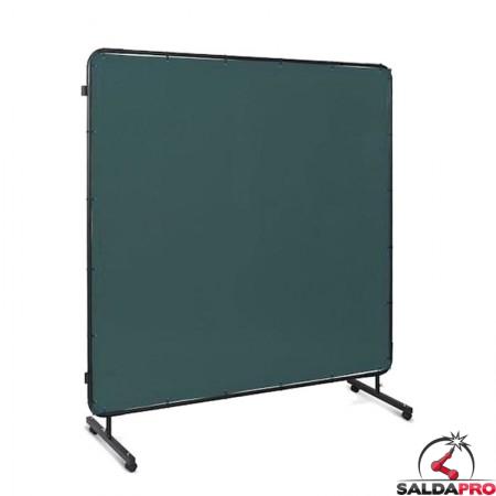 schermo protettivo mobile 174x174 cm tenda verde protezione saldatura telwin 803509
