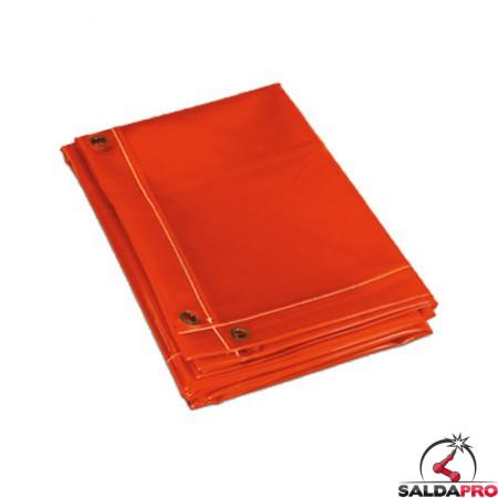 tenda rossa protezione 174x174 cm schermo saldatura telwin 802676