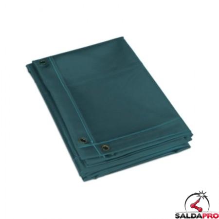 tenda verde protezione 174x174 cm schermo saldatura telwin 802677