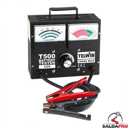 tester t500 prova batteria auto 12v telwin 802781