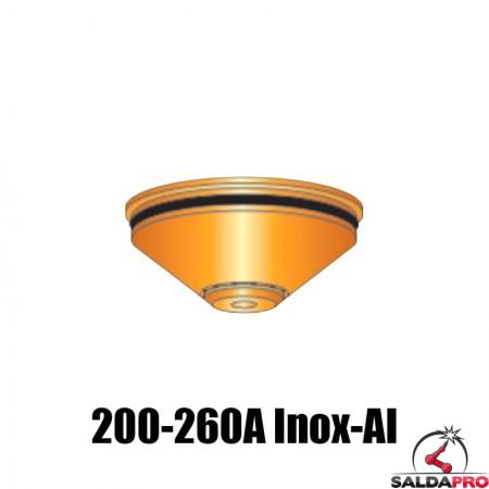 schermo 200-260a acciaio inox alluminio ricambio torce taglio plasma hpr ce 260 hypertherm 220345
