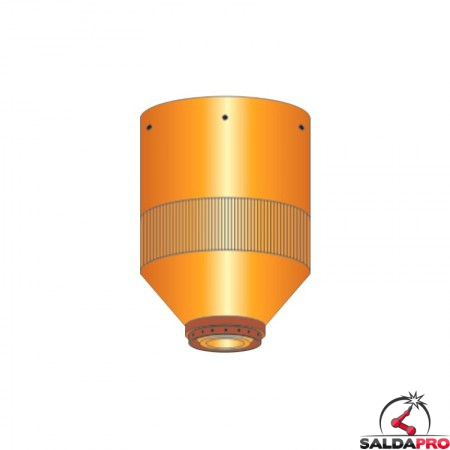ugello chiusura 200-260a smusso acciaio dolce ricambio torce taglio plasma hpr ce 200-260 hypertherm 220603