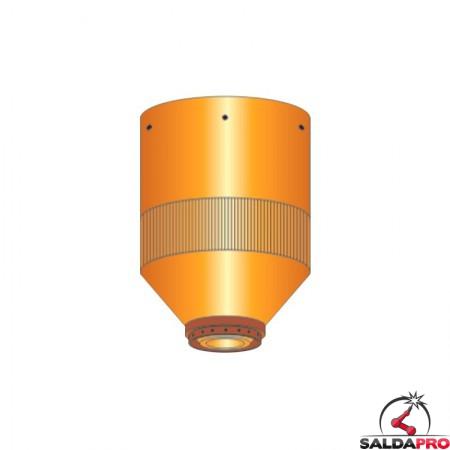 ugello chiusura 200-260a smusso inox ricambio torce taglio plasma hpr ce 200-260 hypertherm 220344