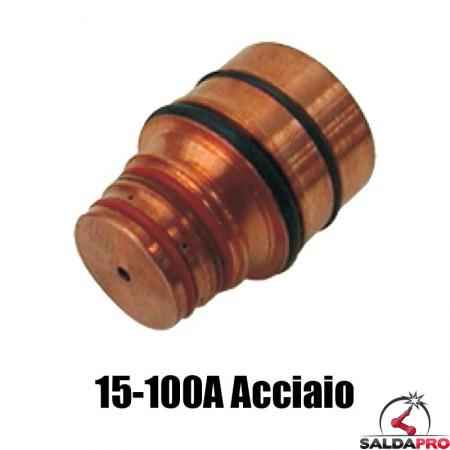 ugello 15-100a acciaio dolce ricambio torce taglio plasma hd1070 hd3070 hypertherm 020644