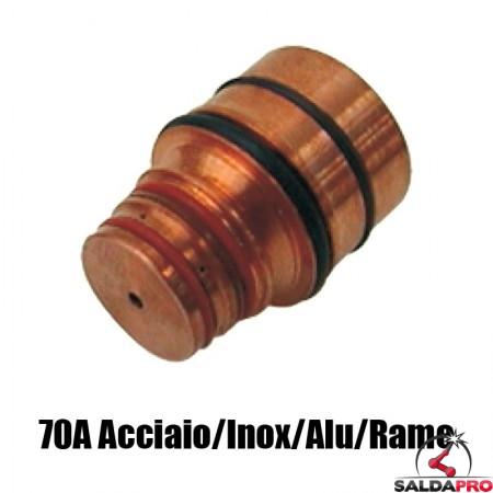 ugello 70a acciaio dolce inox alluminio rame ricambio torce taglio plasma hd1070 hd3070 hypertherm 020647