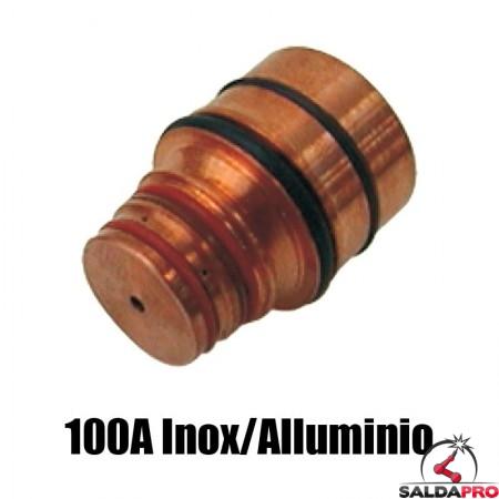 ugello 100a inox/alluminio ricambio torce taglio plasma hd1070 hd3070 hypertherm 120591