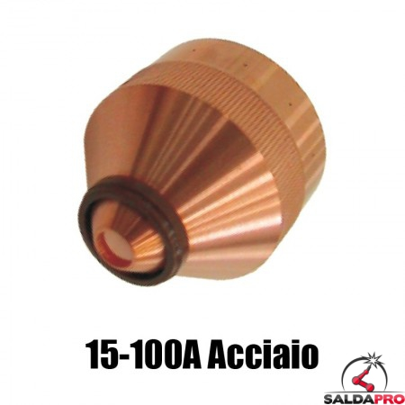 ugello chiusura 15-100a acciaio dolce ricambio torce taglio plasma hd1070 hd3070 hypertherm 020633