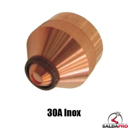 ugello chiusura 30a inox ricambio torce taglio plasma hd1070 hd3070 hypertherm 020940