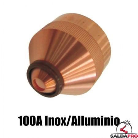 ugello chiusura 100a inox alluminio ricambio torce taglio plasma hd1070 hd3070 hypertherm 120592