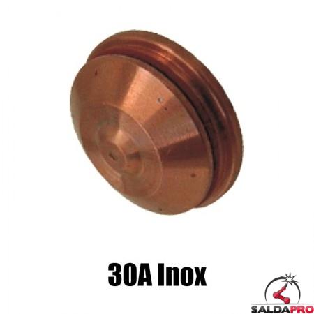 schermo 30a inox ricambio torce taglio plasma hd1070 hd3070 hypertherm 020941