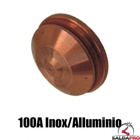 schermo 100a inox alluminio ricambio torce taglio plasma hd1070 hd3070 hypertherm 120594